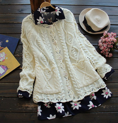 Fashion women's cardigan knitting cotton short coat knitted.
