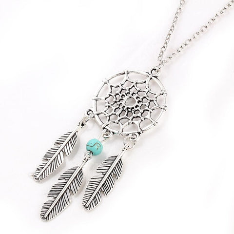 Vintage Dream Catcher Leaves collier Pendant Necklace