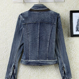 Women's Slim All-Match Wowed Denim Outerwear  Long-Sleeve Jacket