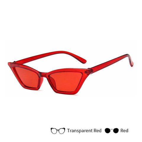 Fashion Cat Eye Sunglasses  Small Red Black ladies Sunglass Eyewear