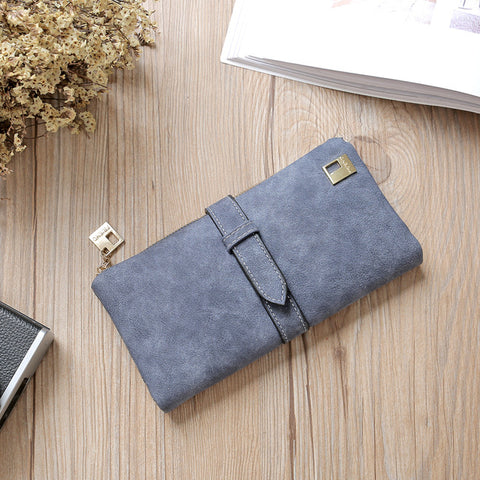 Women Leather Zipper Long  Wallet Phone Bag Designer Purse