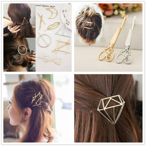 Fashion metal  hair clip barrette  ornaments tiara headwear
