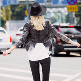 Women Try Everything Motorcycle Jacket Women Cotton Jeans Jacket