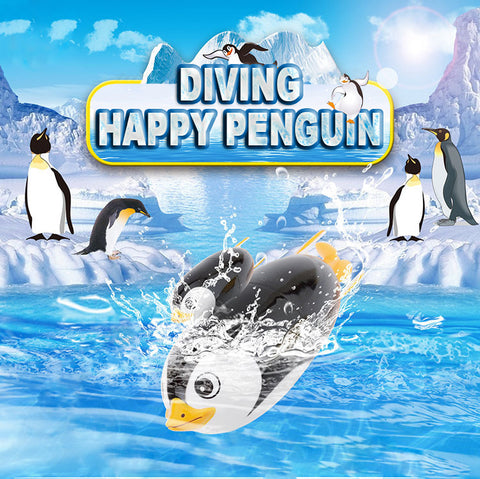 Summer Children Funny Electric Diving Penguin Swimming Pool Diving Game