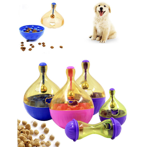 Tumbler Dogs Toy Food Hide Ball Toys Pet Interactive Ball Shaking
