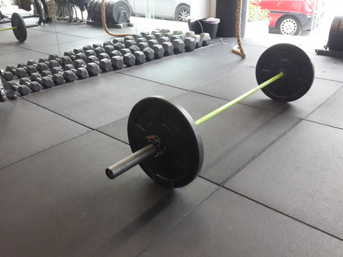 Flatline Black Rubber Gym Flooring 1m x 1m x 15mm