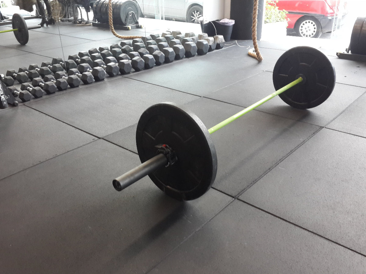 Flatline Black Rubber Gym Flooring 1m x 1m x 20mm