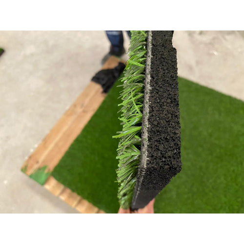 Artificial Grass topped Rubber gym safety flooring