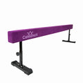 8ft purple gymnastics beam with adjustable legs