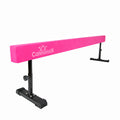 8ft pink gymnastics beam with adjustable legs
