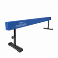 8ft blue gymnastics beam with adjustable legs
