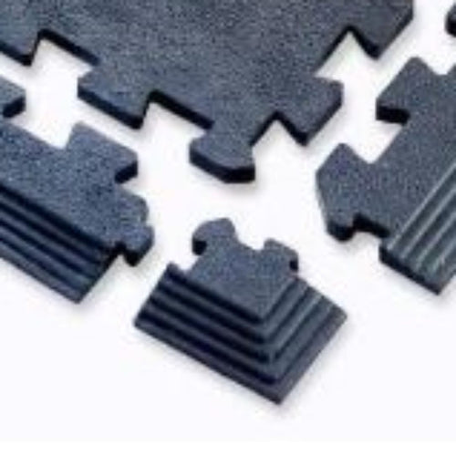 Cannons UK 1m x 1m interlocking rubber flooring corners and edges