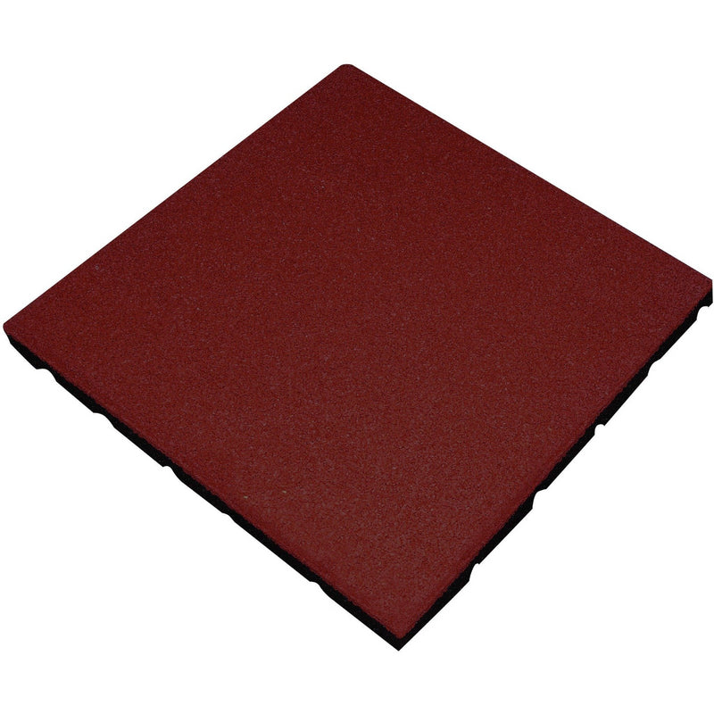 Red rubber 20mm tiles