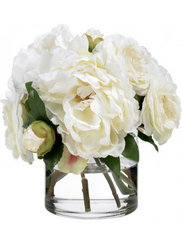 White Satiny Peonies