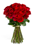 A Dozen Regular Stemmed Roses - Boxed