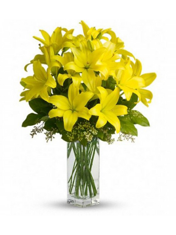 Yellow Lilies on the Rocks