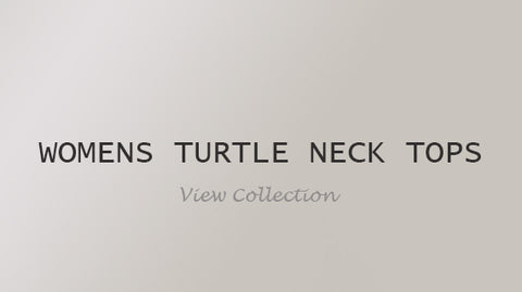 Womens Turtle Neck Tops