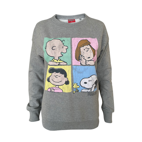 Peanuts - Character Squares Women's Crew Sweat