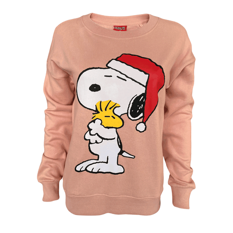 Peanuts - Santa Hugs Women's Crew Sweat