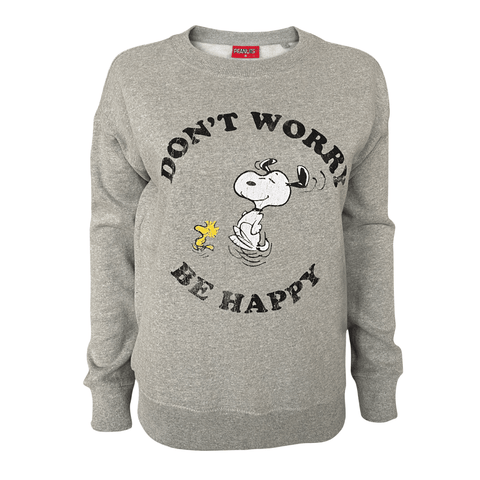 Peanuts - Don't Worry Women's Crew Sweat
