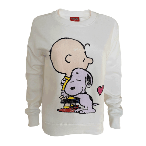 Peanuts - Charlie & Snoopy Hugs Women's Crew Sweat