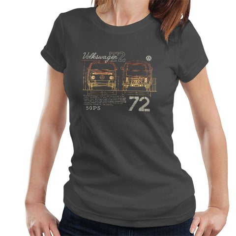 Official Volkswagen T2 Mini Van 72 Womens T-Shirt