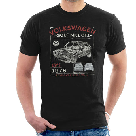 Official Volkswagen Golf-MK1 GTI Owners Workshop Manual Mens T-Shirt