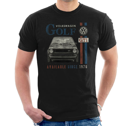 Official Volkswagen Golf GTI-Racing Distressed Mens T-Shirt