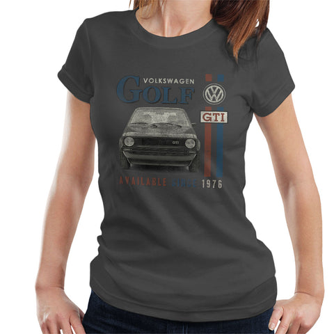 Official Volkswagen Golf GTI-Racing Distressed Womens T-Shirt