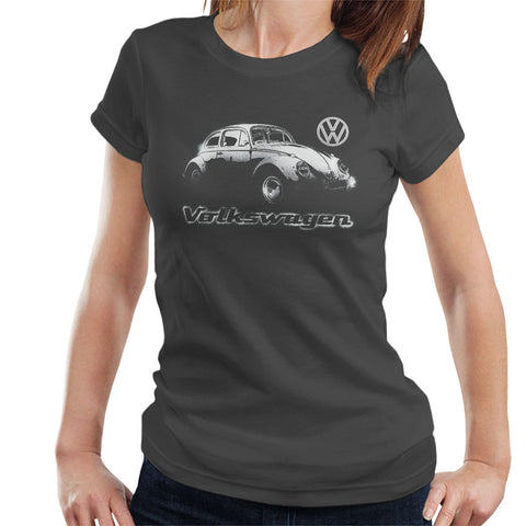 Official Volkswagen Beetle Spray Paint Womens T-Shirt