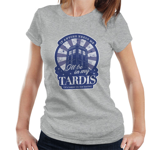 Official Doctor Who Ill Be In My Tardis Womens T-Shirt