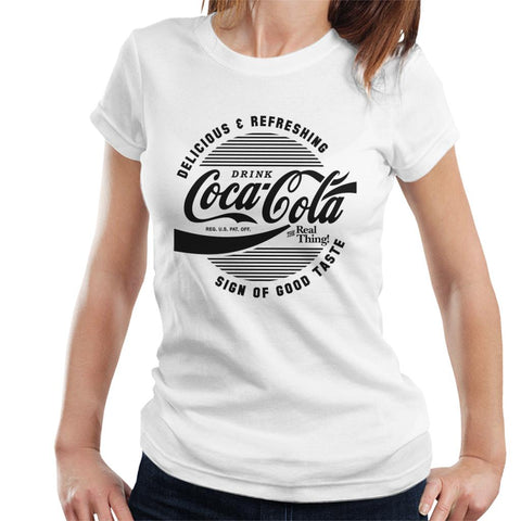 Official Coca Cola Circle Logo Womens T-Shirt