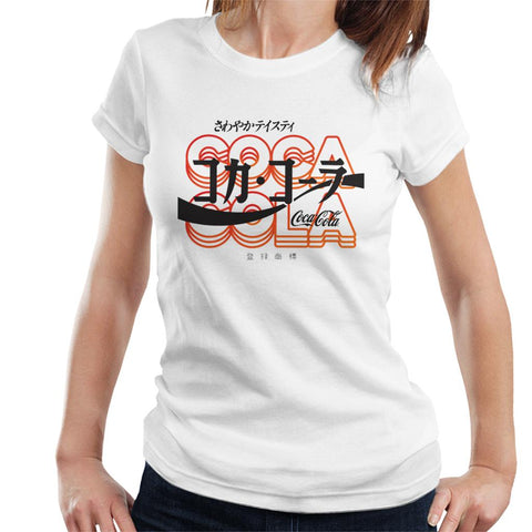 Official Coca Cola Retro Japanese Womens T-Shirt
