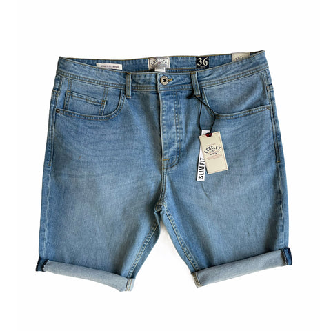 Croxley - Slim Fit Jean Shorts