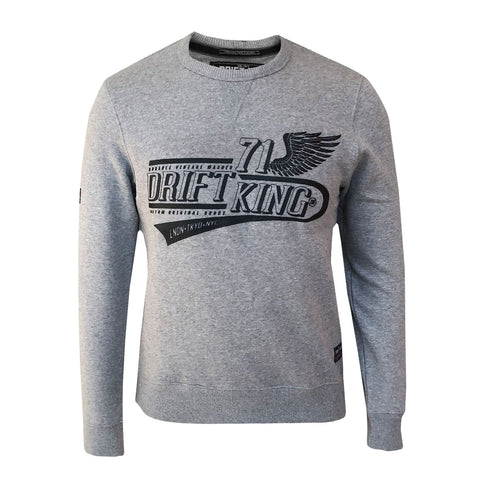 DRIFT KING - WING CREW SWEAT
