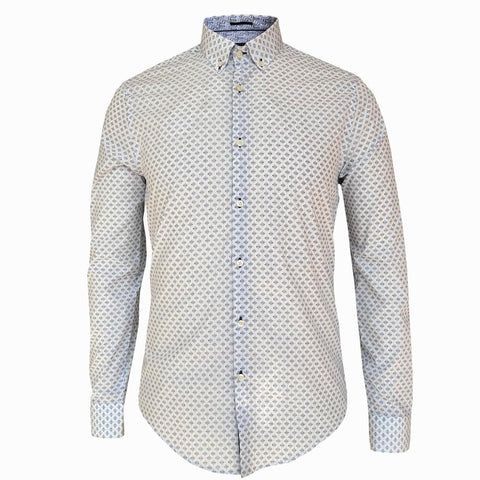 LUXE HOMME SELECT - Premium Oxford Long Sleeve Shirt (Ocean)