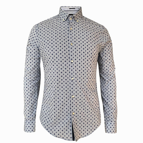 LUXE HOMME SELECT - Premium Oxford Long Sleeve Shirt (Conaught)