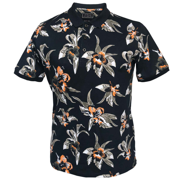 Outrage - All Over Print PARADISE FLORAL Polo