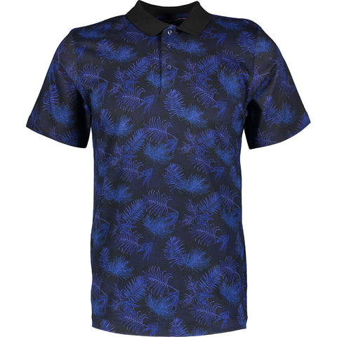 Outrage - All Over Print SPRAY LEAF Polo