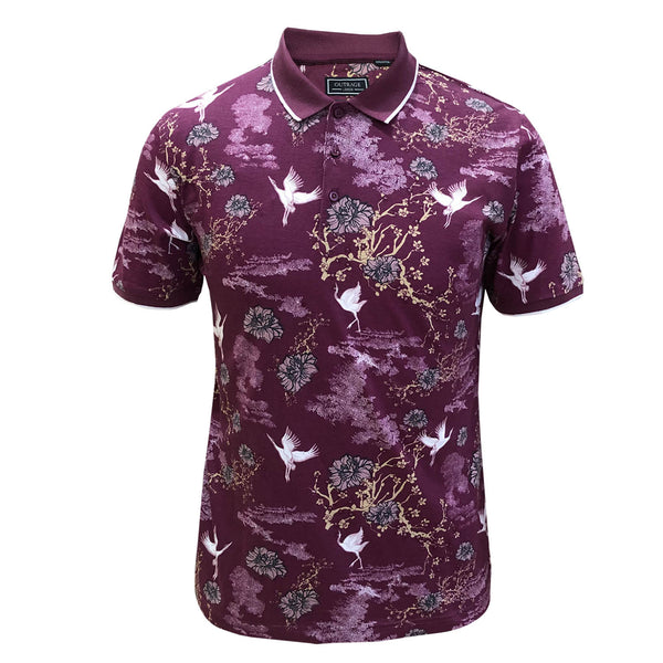 Outrage - All Over Print SWAN Polo