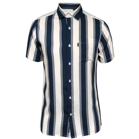 Outrage - Viscose Stripe Short Sleeve Shirt