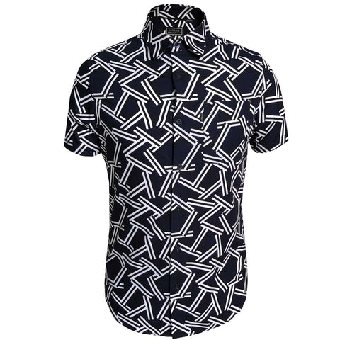 Outrage - Dual Stripe Short Sleeve Shirt