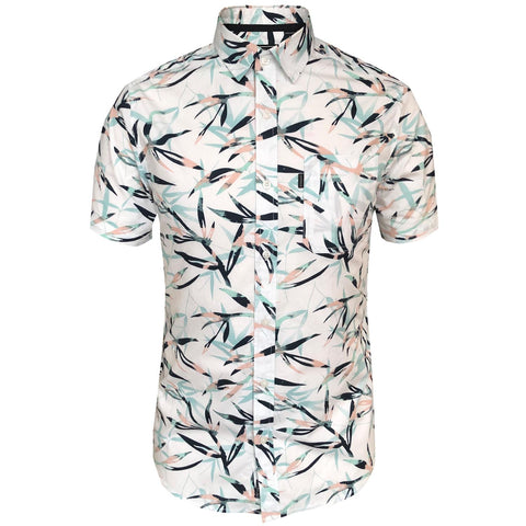 Outrage - Bamboo Print Short Sleeve Shirt