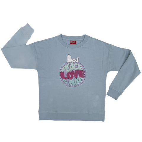 Peanuts - Peace Love & Music Women's Crew Sweat SS21