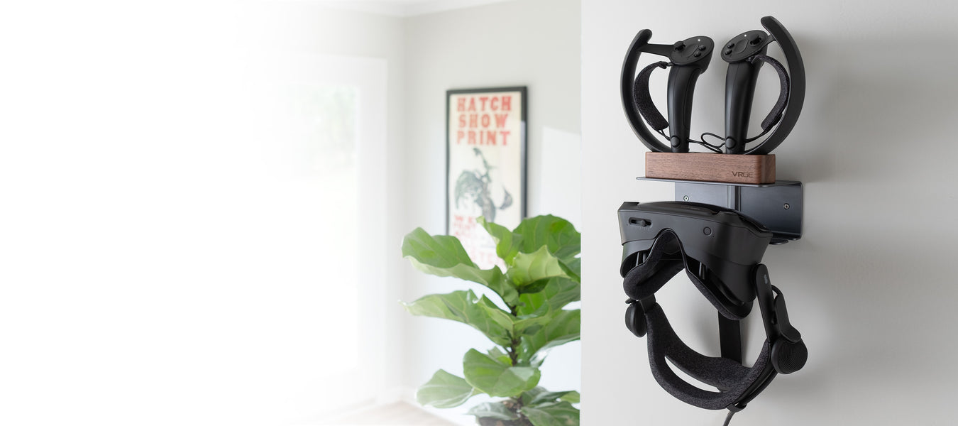 MASiKEN Virtual Reality Headset and Controllers Holder for Oculus Quest//Rift S//HTC Vive//Valve Index,VR Holder,Luminous Green