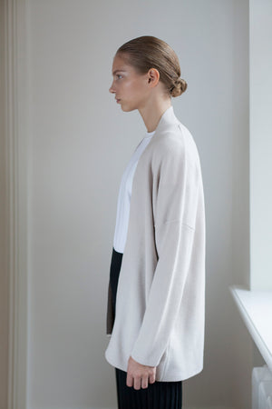 The New Long Merino Cardigan - Ivory