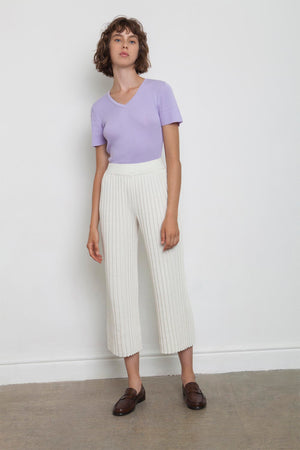 Linen Pleated Pants - Off White