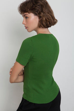 Ribbed Makò T - Green