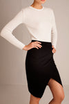 Linen Wrap Skirt - Black