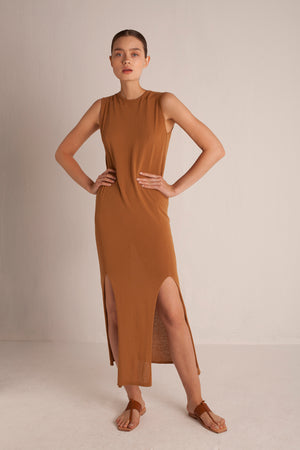 Palm Dress - Caramel